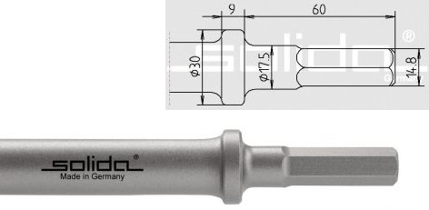 S14,8 - Ø17,5x60 - Bund Ø30 mm