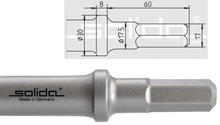 S17 - Ø20x60 - Bund Ø30 mm